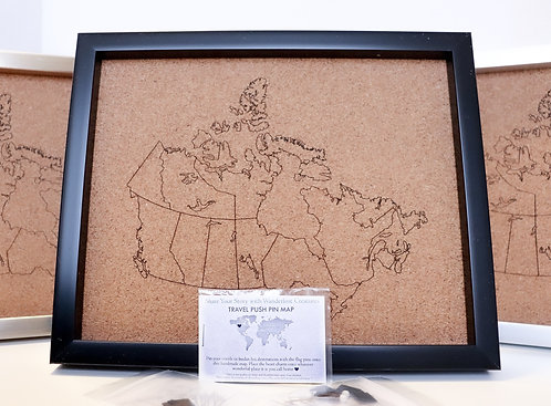 WHOLESALE Canada Pin Map - Rastered - SMALL