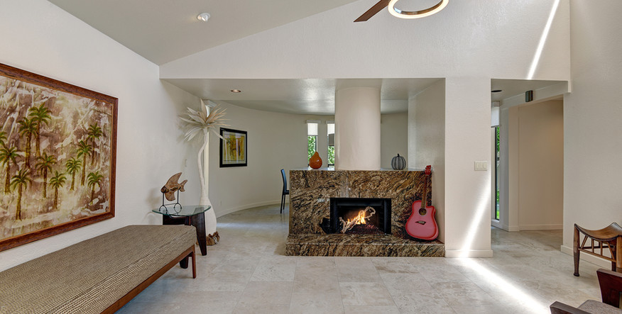 LIVING ROOM TO FIREPLACE AND DINING ROOM