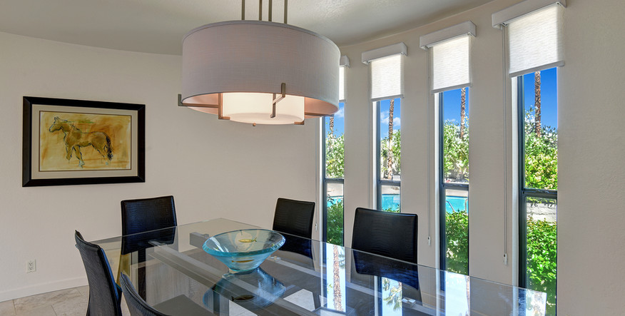 DINING ROOM WINDOWS TO POOL AND SPA MLS.