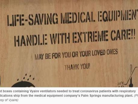 Coronavirus:Palm Springs ventilator...