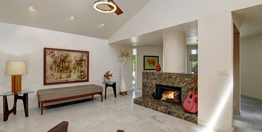 LIVING ROOM FROM ATRIUM TO FIREPLACE MLS
