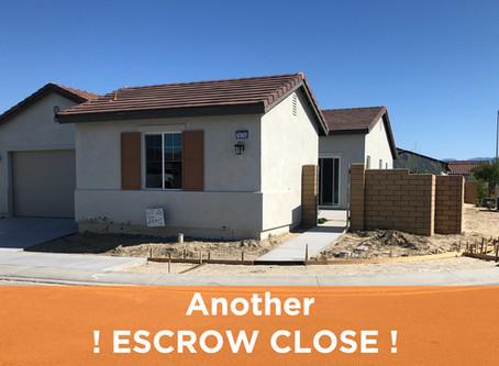 Another Escrow Close 👍