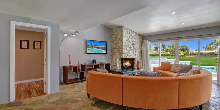 LIVING ROOM TO MASTER BEDROOM ENTRY WITH
