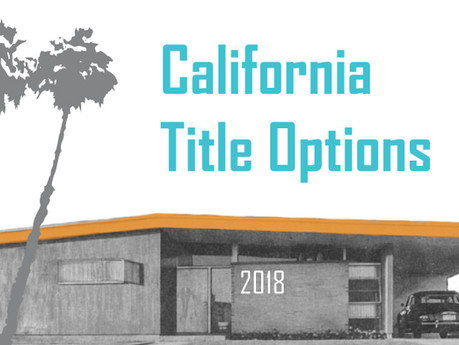 Common Ways to Hold Title in California
