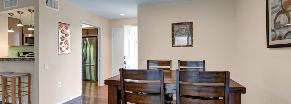 DINING ROOM ACROSS TO ENTRY AND KITCHEN