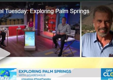 Palm 🌴 Springs 💦on KTLA 5...