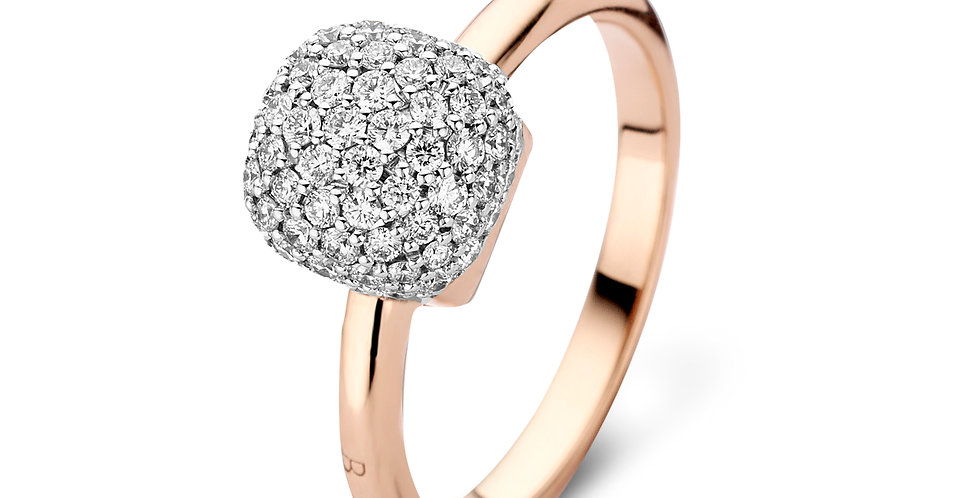 Bigli Mini Sweety 18k Roségouden Ring met Diamanten