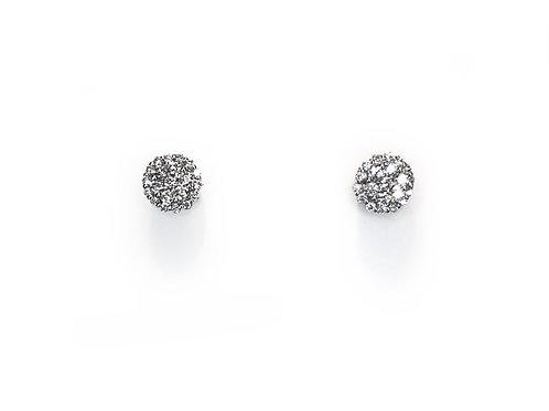 Witgouden Diamanten Oorbellen (6mm)