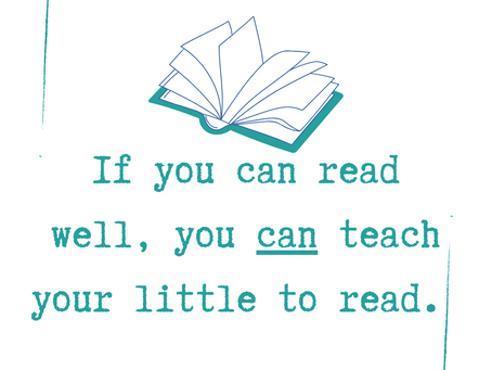Parents, You CAN Teach Your Littles to Read (Here's How)