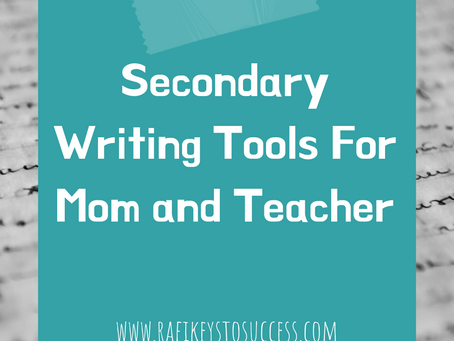 Secondary Writing Tools For Mom and Teacher