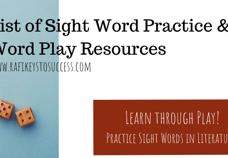 List of Sight Word Practice & Word Play Resources