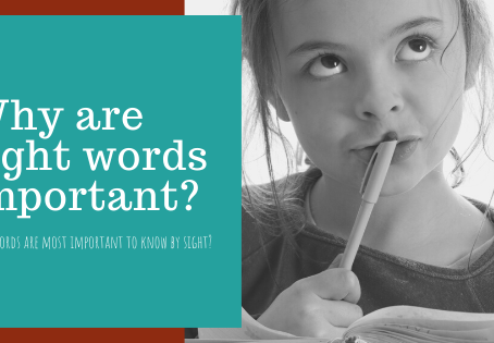 Why are sight words important?