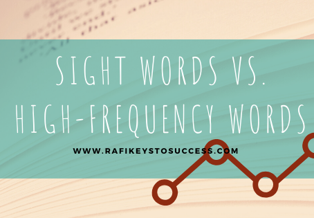Sight Words vs. High-Frequency Words