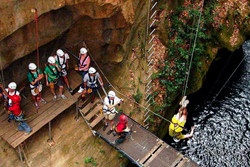 Rappelling on the Canopy Tour