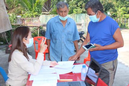 งานจัดเก็บรายได้ ออกให้บริการประชาชนในพื้นที่หมู่ที่ 6 บ้านงิ้วเหนือ และหมู่ที่ 7