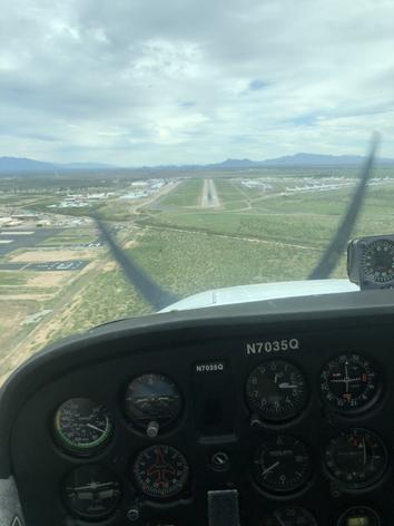 Short Final at Pinal Airpark