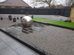 Contemporary garden, Inkberrow