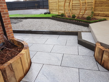 Contemporary garden views