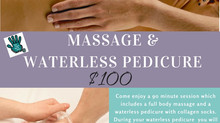 Massage & Waterless Pedicure