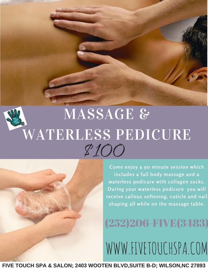 Massage & Waterless Pedicure