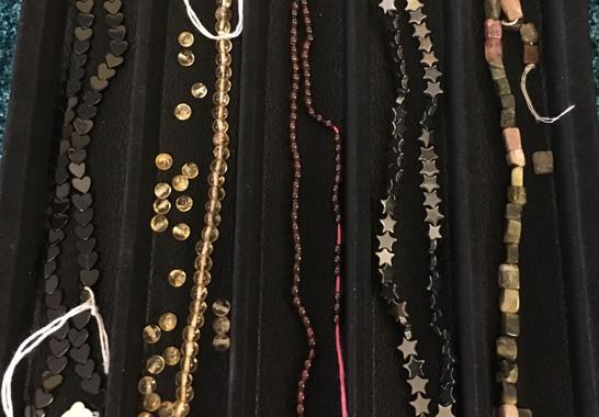 Black Onyx, Citrine, Garnet, Hemaite, Shungite