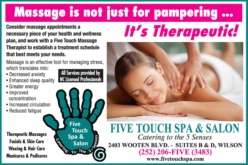 Five Touch Spa & Salon: Massage Is Not Just For Pampering...