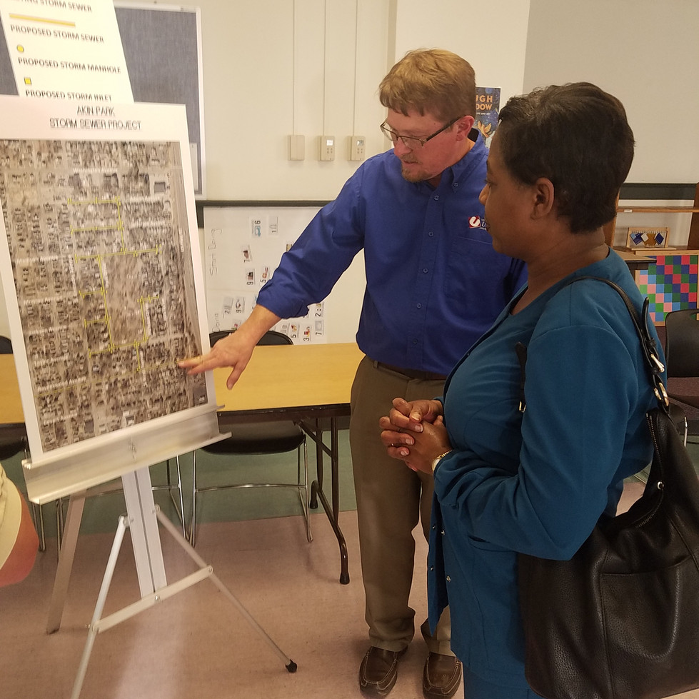 Aiken Park Waterline Replacement Project Public Meeting at East Branch public library