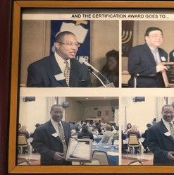 Kori Miller receiving the Baldridge Award