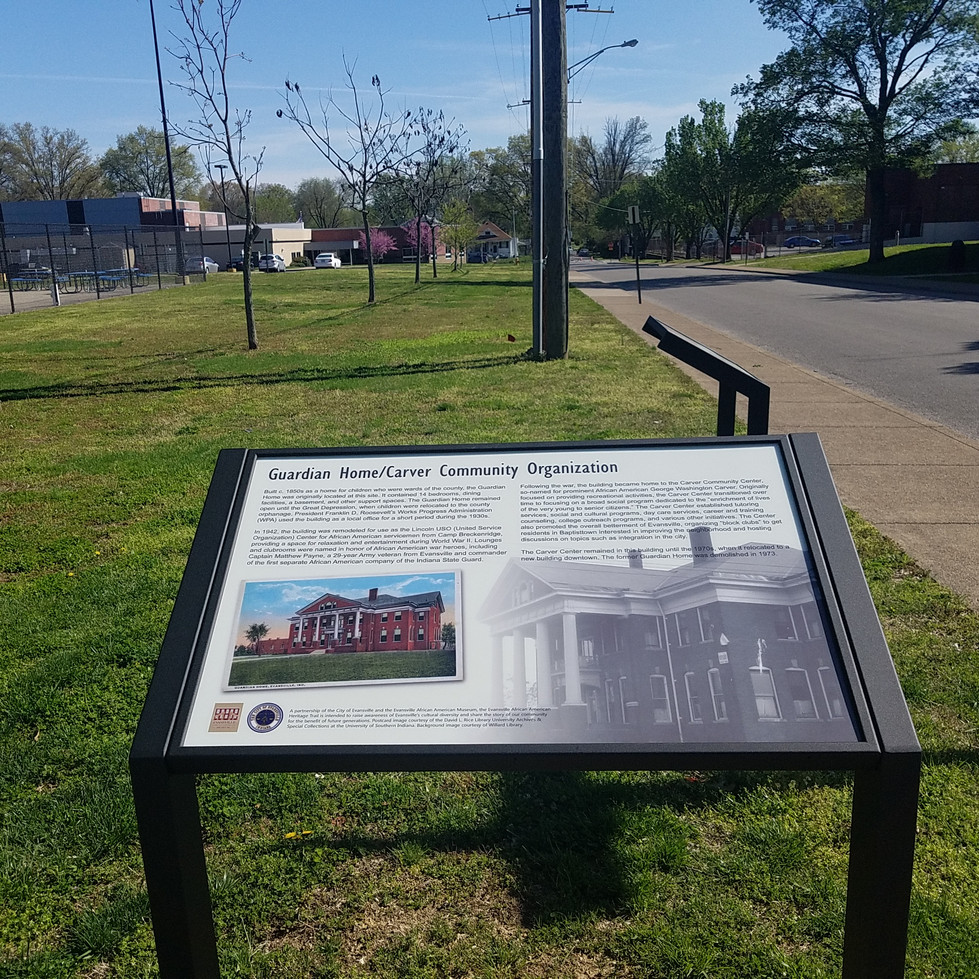 The Walnut Street Project's Wayfinders sign placement for  The Baptisttown Heritage Trail.