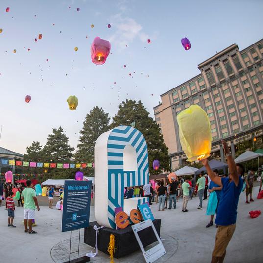 Lanterns at the Tropicana Event Plaza - FIESTA Evansville, 2018