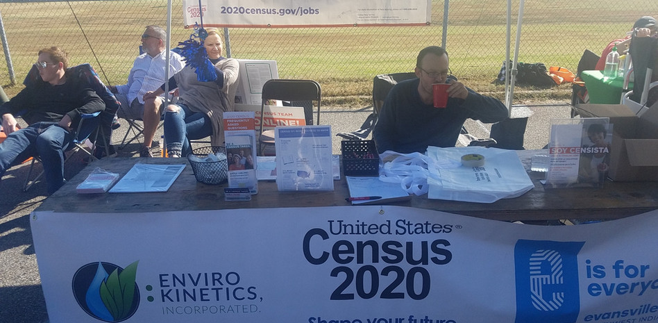 Census Enumerator staff at outreach tabl