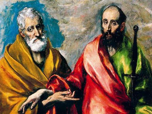 29 de Junio: Festividad de San Pedro y San Pablo
