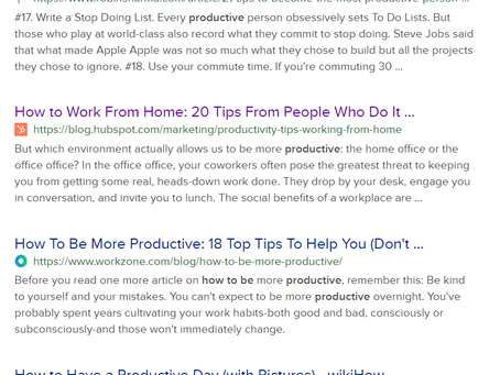 """Never google """"How to be productive"""""""