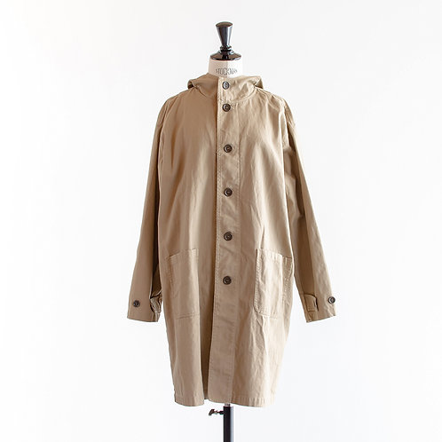 Cotton Herringbone Hood Coat