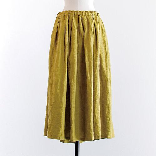 Linen Tuck & Gather Skirt