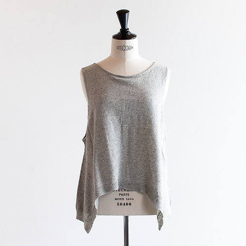 Cotton Linen Knit 2Way Vest