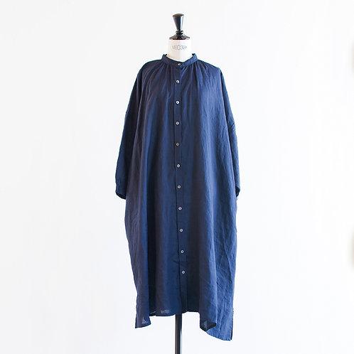 Linen Bandcollar Shirts Onepiece