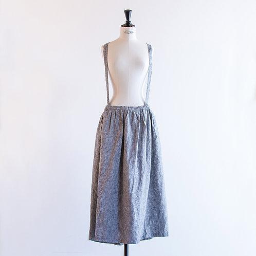 Linen Suspender Skirt