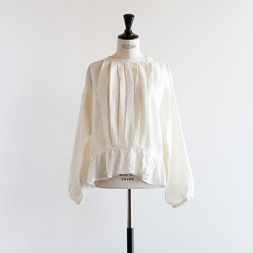 Linen Pleat Frill Pullover
