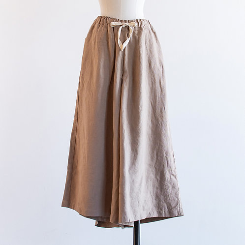 Linen Tuck Wide Pants
