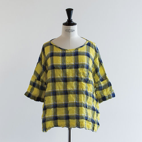 Cotton Check Pocket Pullover