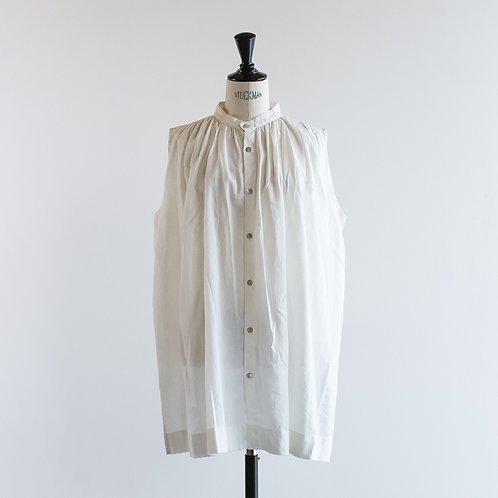 Cotton Linen Gather Blouse