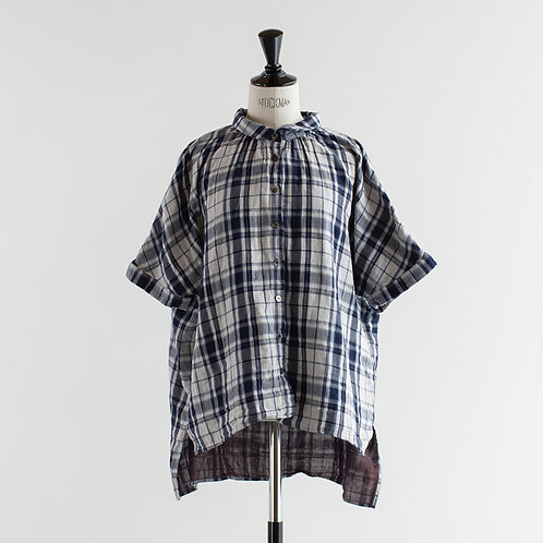 Double Gauze Check Wide Shirts