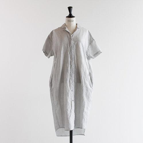 Linen Cotton Tailor Collar Onepiece