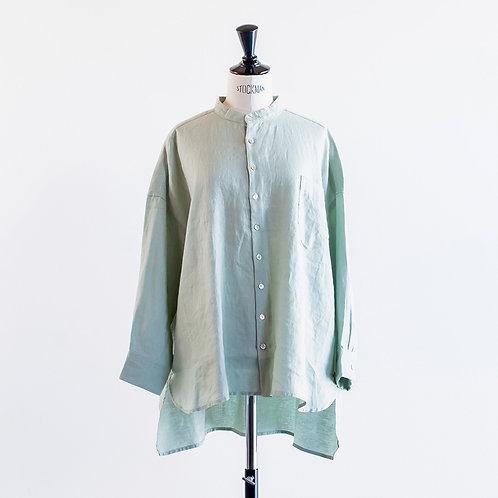 Linen Bandcollar Long Shirts