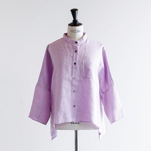 Linen Bandcollar Wide Shirts