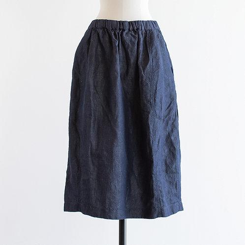 Linen Cotton Denim Cocoon Skirt