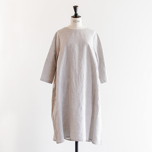 Linen Chambray Side Tuck Onepice
