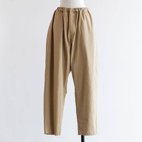 Cotton Twill Gather Tarpered pants