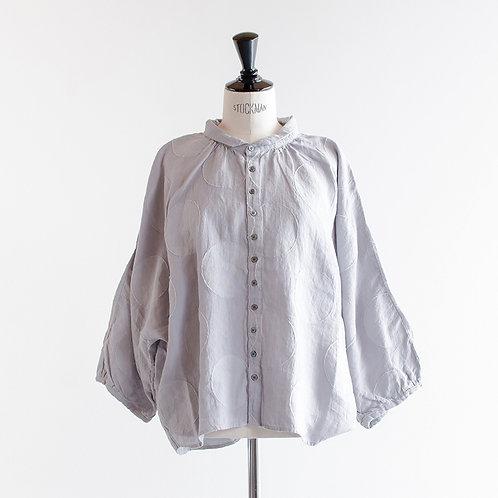 Linen Dot Gather Dolman Shirts